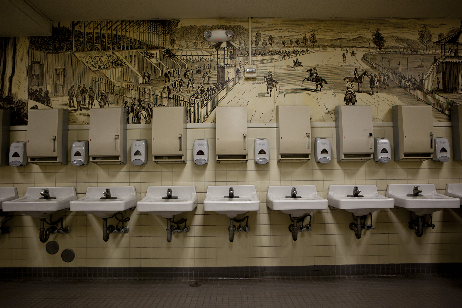 East Side Men's Room (w/ Mural)