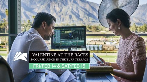Valentine at the Races in the Turf Terrace Restaurant