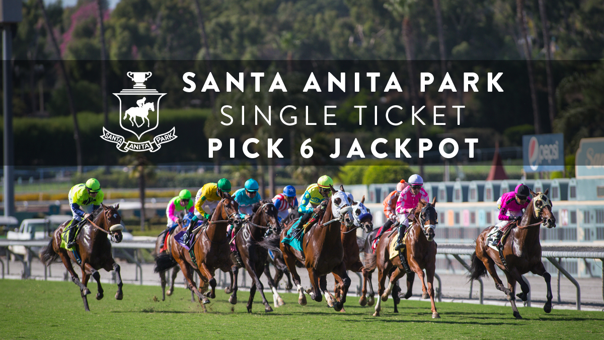 Santa Anita Single Ticket Pick Six Jackpot Hit On 80