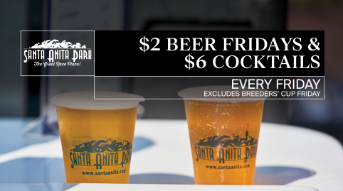 $2 Beer Fridays + $6 Specialty Cocktails