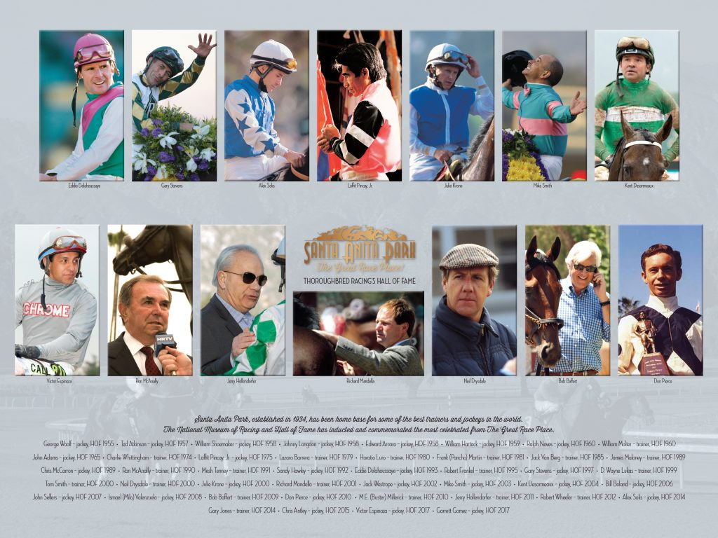 Free Poster Commemorating Hall Of Fame Jockey Amp Trainer