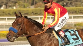 COMEBACKING SECRET CIRCLE TAKES ON GOLDENCENTS IN SATURDAY'S GRADE I, $300,000 SANTA ANITA SPRINT CHAMPIONSHIP; LAST YEAR'S BREEDERS' CUP SPRINT CHAMP AND BC MILE WINNER AIM FOR 2014 BREEDERS' CUP WORLD CHAMPIONSHIPS ON OCT. 31 & NOV. 1