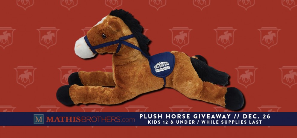 Plush Thoroughbred Giveaway