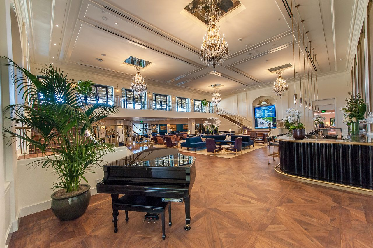 Santa anita donates vintage steinway piano to arcadia performing santa anita donates vintage steinway piano to arcadia performing arts foundation manufactured in 1908 grand piano graced tracks chandelier room for arubaitofo Gallery