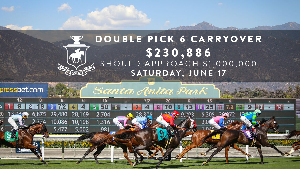 Two Day Pick Six Carryover Of 230 886 Into Saturday At