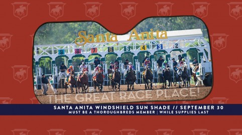 Giveaway: Santa Anita Windshield Sun Shade
