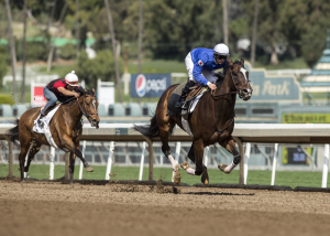 TRAINER RICHARD MANDELLA'S MULTIPLE GR. I WINNING PARADISE WOODS WORKS A SNAPPY SIX FURLONGS IN 1:12.56 UNDER FLAVIEN PRAT PRIOR TO TODAY'S FIRST RACE